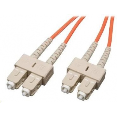 Duplexní patch kabel MM 62,5/125 OM1, SC-SC, LS0H, 1m