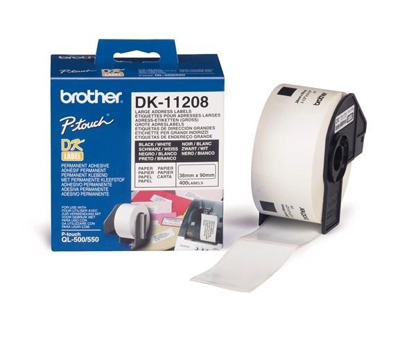 BROTHER DK-11208 Široké adresní štítky 38x 90mm (400 ks)