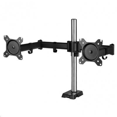 """ARCTIC Z2 (Gen3)  stolní držák pro 2x LCD do 34"""", nosnost 2x15kg, 4x USB HUB, černý (black)"""