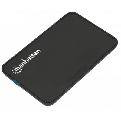 """MANHATTAN USB 2.0 2,5"""" SATA plastikový box na externí HDD, černý"""