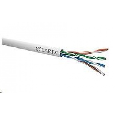 Instalační kabel Solarix UTP, Cat5E, drát, PVC, box 305m SXKD-5E-UTP-PVC