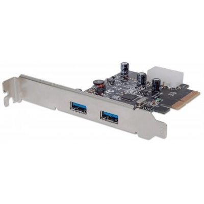 MANHATTAN USB 3.1 PCI Express Card, Two external SuperSpeed+ USB 3.1 ports, 2 type-A