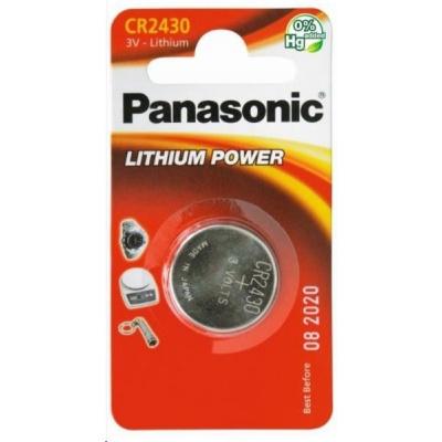 PANASONIC Lithiová baterie (knoflíková) CR-2430EL/1B  3V (Blistr 1ks)