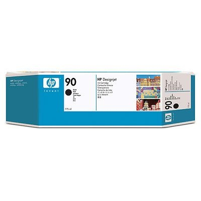 HP 90 Black DJ Ink Cart, 775 ml, 3-pack, C5095A