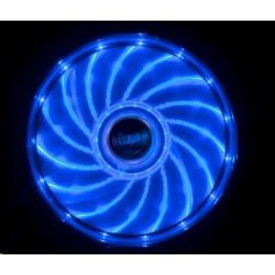 AKASA ventilátor Vegas 120x120x25mm, 1200RPM podsvícený, 15xLED, modrý