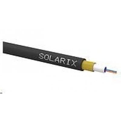 Solarix Zafukovací kabel MINI Solarix 2vl 9/125 HDPE Fca černý SXKO-MINI-2-OS-HDPE, cívka 1 km