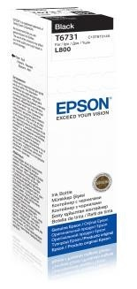 EPSON ink čer T6731 Black ink container 70ml pro L800/L1800