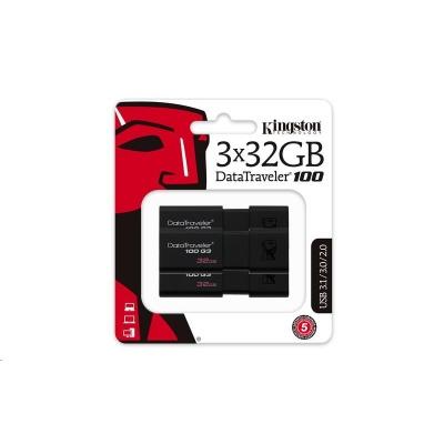 Kingston 32GB USB 3.0 DataTraveler 100 G3 - (3 ks)