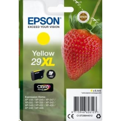 "EPSON ink bar Singlepack ""Jahoda"" Yellow 29XL Claria Home Ink"