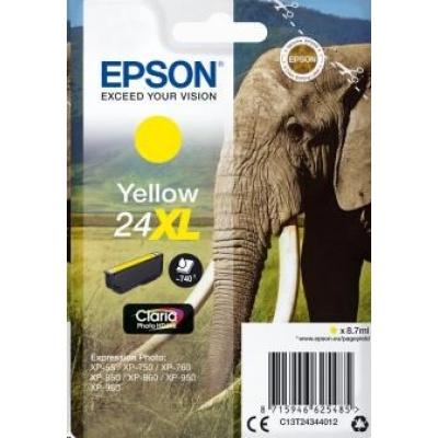 "EPSON ink bar Singlepack ""Slon"" Yellow 24XL Claria Photo HD Ink"