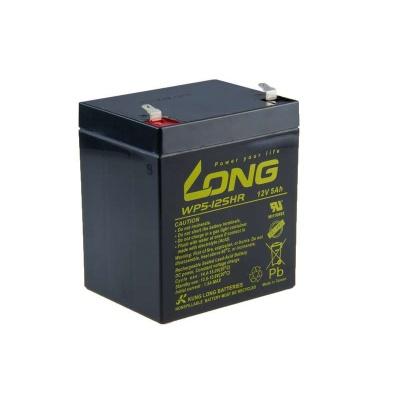 Long 12V 5Ah olověný akumulátor HighRate F1