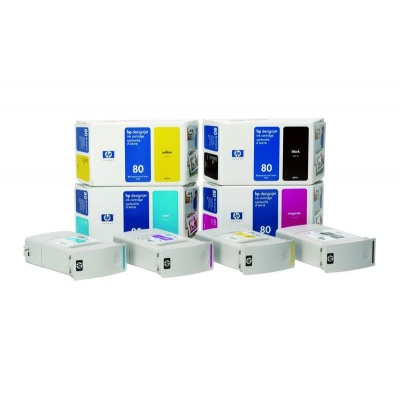 HP 80 Cyan DJ Ink Cart, 350 ml, C4846A