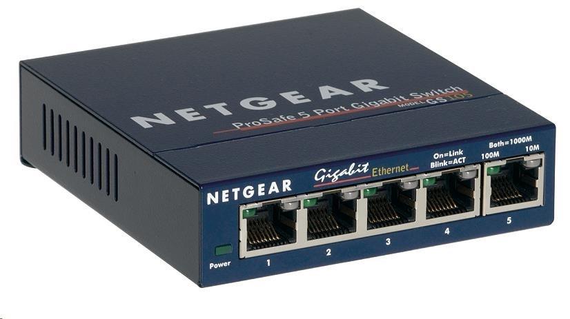 Netgear GS105 ProSafe 5-port Unmanaged Gigabit Desktop Switch