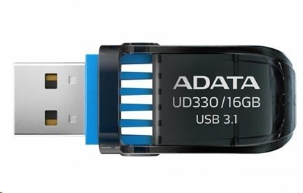 ADATA Flash Disk 16GB USB 3.1 DashDrive™ UD330, černý
