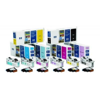 HP 83 Black UV Printhead + Printhead Cleaner, C4960A
