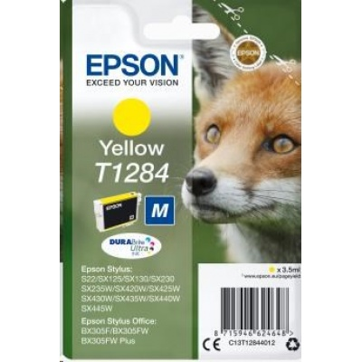 "EPSON ink bar Singlepack ""Liška"" Yellow T1284 DURABrite Ultra Ink (3,5 ml)"
