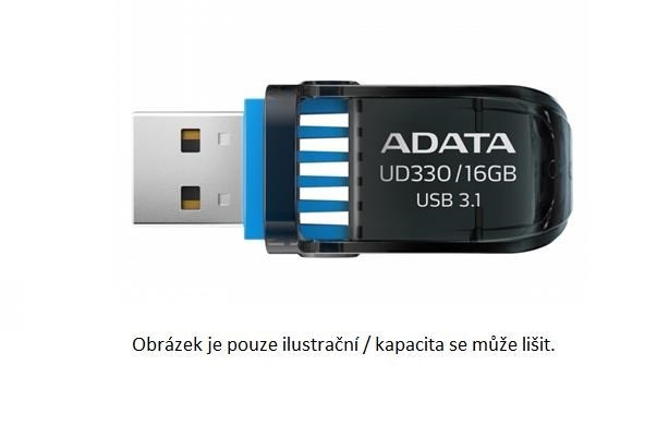 ADATA Flash Disk 64GB USB 3.1 DashDrive™ UD330, černý