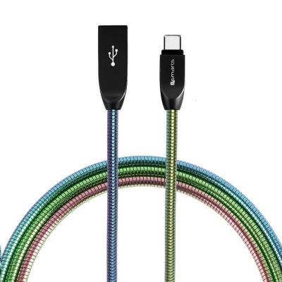 4smarts datový kabel FERUMCord, 2 A, USB-C, duhová
