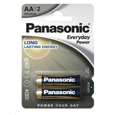 PANASONIC Alkalické baterie Everyday Power  LR6EPS/2BP AA 1,5V (Blistr 2ks)