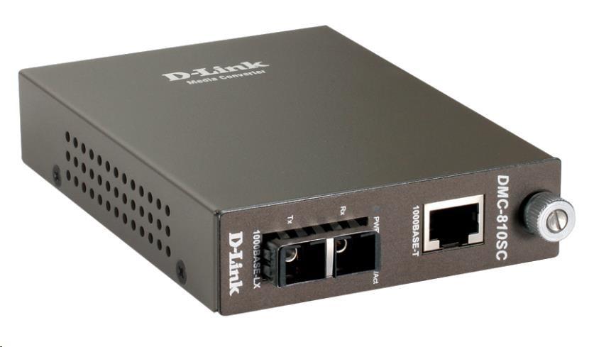 D-Link 1000BaseT to 1000BaseLX (SC) Singlemode Media Converter, do 10 km