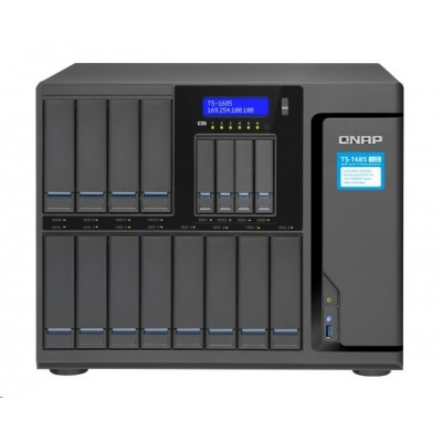 QNAP TS-1685-D1521-8G (4C/Xeon D-1521/2,4-2,7GHz/8GBRAM/16xSATA/4xGbE/2x10GbE/3xUSB3.0//6xM.2/3xPCIe)