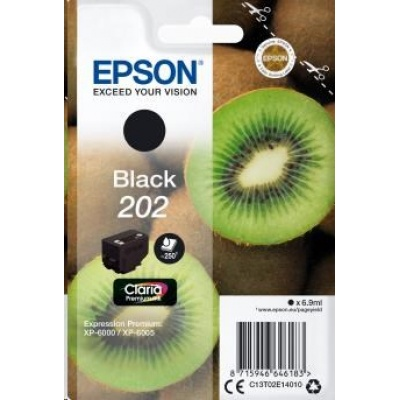 "EPSON ink čer Singlepack ""Kiwi"" Black 202 Claria Premium Ink 6,9 ml"