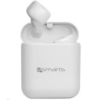 4smarts bluetooth stereo sluchátka Eara TWS True Button, bílá