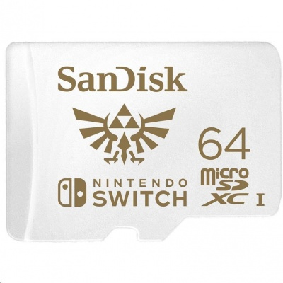 SanDisk MicroSDXC karta 64GB for Nintendo Switch (R:100/W:90 MB/s, UHS-I, V30,U3, C10, A1) licensed Product, Super Mario
