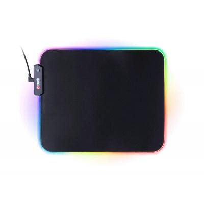 C-TECH herní podložka pod myš  ANTHEA LED (GMP-08), pro gaming, 7 barev podsvícení, USB