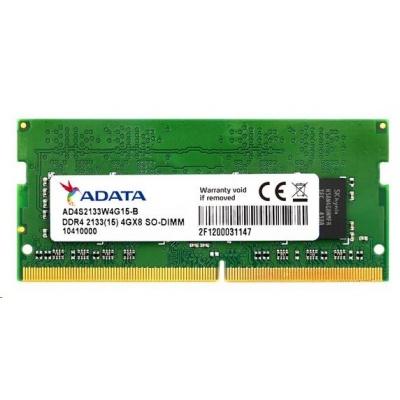 SODIMM DDR4 4GB 2133MHz CL15 ADATA, 512x8, Bulk