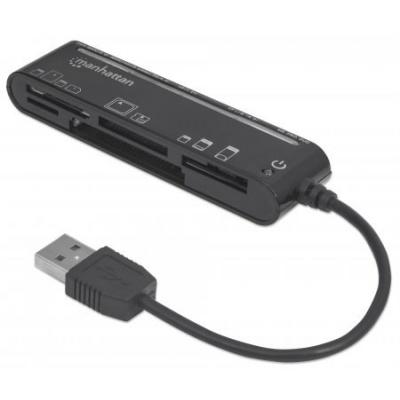 MANHATTAN Čtečka paměťových karet, Slim, 79 v 1, USB 2.0, černá, externí