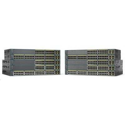 Cisco Catalyst 2960+24LC-S, 24x10/100, 2xGbE SFP/RJ-45, PoE