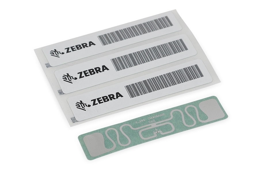 "Zebra RFID Label, 97x15mm, ShortDipole, Opaque Matt, 3"" core, 5000/roll"