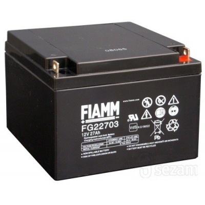 Baterie - Fiamm FG22703 (12V/27Ah - M5), životnost 5let
