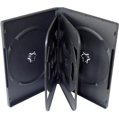 OEM Krabička na 6 DVD 24mm černá, 100 ks/bal.