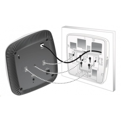 AP-220-MNT-W3 White Low Profile Box Style Secure Large AP Flat Surface Mount Kit