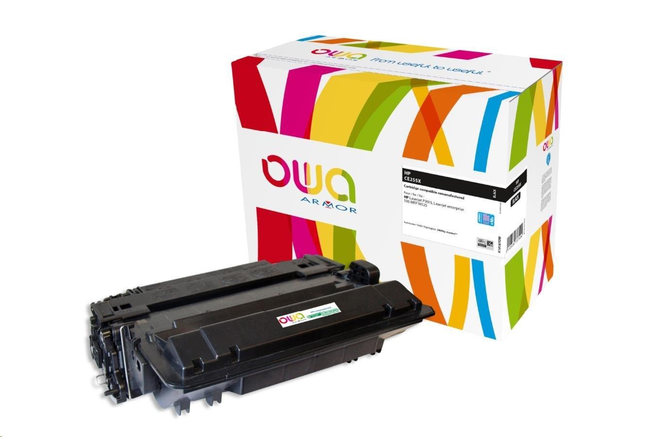 OWA Armor toner pro HP Laserjet P3015 JUMBO, 24000 stran, CE255X, černá/black