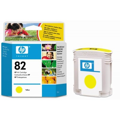 HP 82 Yellow DJ Ink Cart, 69 ml, C4913A