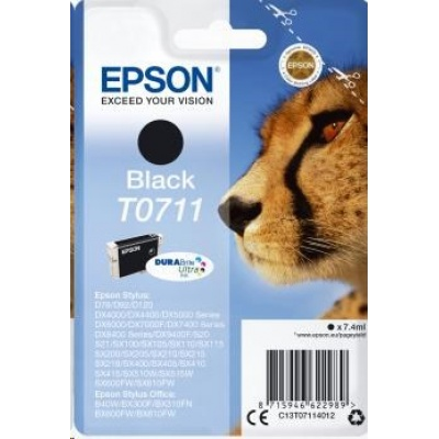 EPSON ink čer Singlepack Black T0711 DURABrite Ultra Ink (7,4 ml)