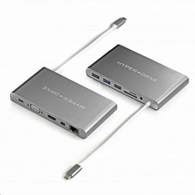 HyperDrive Ultimate USB-C Hub - Space Gray
