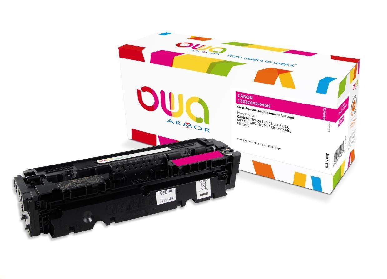OWA Armor toner pro CANON LBP  653Cdw, 654Cx, MFP735Cx, 5000 str., červená/magenta (CRG046H M)