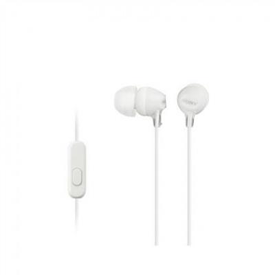 SONY stereo sluchátka MDR-EX15AP, bílá