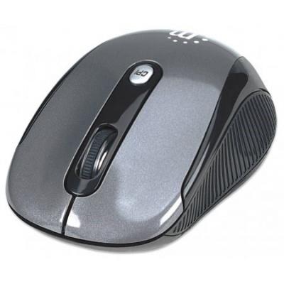 MANHATTAN Myš Performance, USB, optická, bezdrátová, 4-tlačítková, šedá