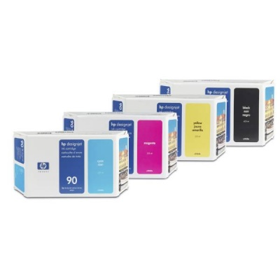 HP 90 Magenta DJ Ink Cart, 400 ml, C5063A