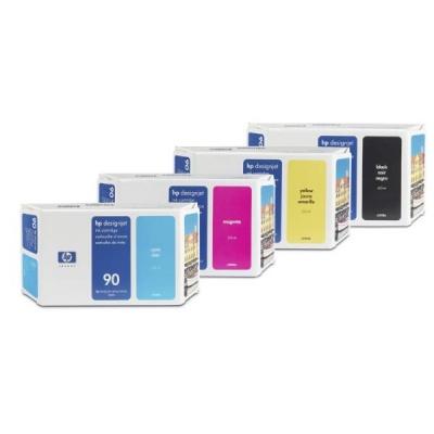 HP 90 Magenta DJ Ink Cart, 400 ml, C5063A
