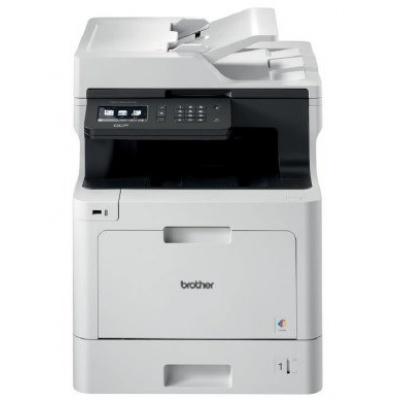 BROTHER multifunkce color laserová DCP-L8410CDW  - A4, 31ppm 512MB 2400x600 PCL LAN USB WiFi 250l 50ADF, DUPLEX