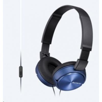 SONY stereo sluchátka MDR-ZX310, modrá