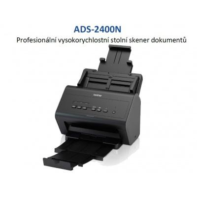 BROTHER skener ADS-2400N DUALSKEN (až 30 str/min, 600 x 600 dpi, automatický duplex, 256MB) 1000 LAN