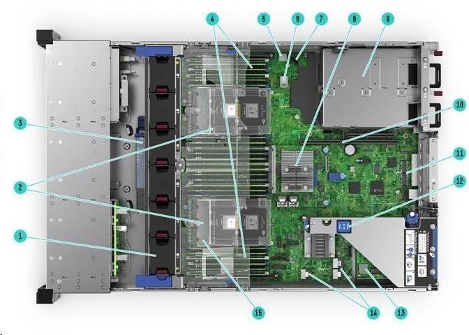 HPE PL DL380g10 4110 (2.1.G/8C/14M/2400) 2x16G P816i-a/4G 12-19LFF+2SFF 2x800Wp RF NBD333 2U 868710-B21 Renew