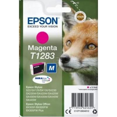 "EPSON ink bar Singlepack ""Liška"" Magenta T1283 DURABrite Ultra Ink (3,5 ml)"